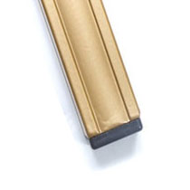Smooth Gold Fluted